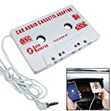 HERCHR Car Audio Tape Cassette Adapter, Mp3 CD Radio 3.5mm Jack, White