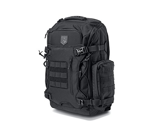 Cannae Pro Gear Legion Elite Day Pack with Helmet Carry, Black ()