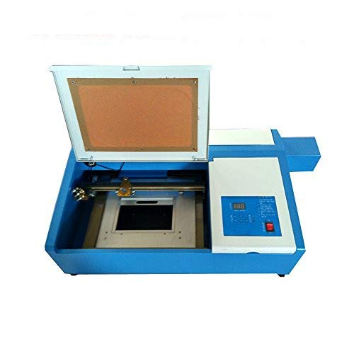 Desktop Mini CO2 Laser Engraving Machine, with Up and Down Table 50W Laser 300 x 200mm(12X8 inch) Cutting Machine with Laser Tube