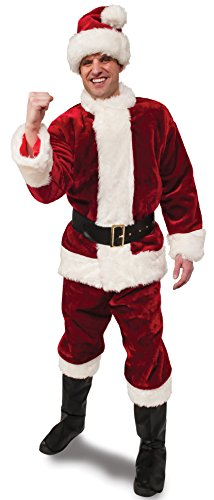 Rubie's Crimson Regency Plush Santa Suit,Red/White, XX-Large (Halloween Costume Ideas With Glasses)