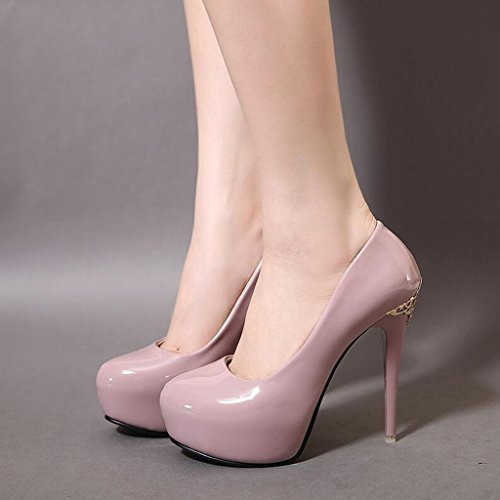 Cjc Platform Heels Purple Sandals Waterproof Simple Baotou Fashion Thin High heeled Shoes High Elegant Commuter Sexy pXqdnqZw6