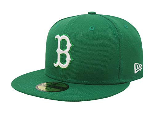 New Era Mens MLB Basic Boston Red Sox 59fifty Fitted Cap, Kelly Green, 7 1/8 ()