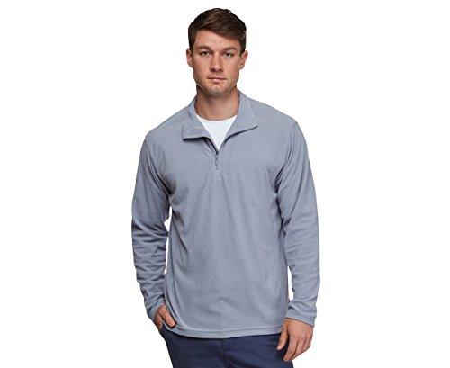 - Columbia Men's Crescent Valley Half Zip Fleece Pullover, Tradewinds Grey, X-Large