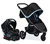 Britax B-Free Travel System with B-Safe Ultra Infant Car Seat - Birth to 65 pounds, Frost