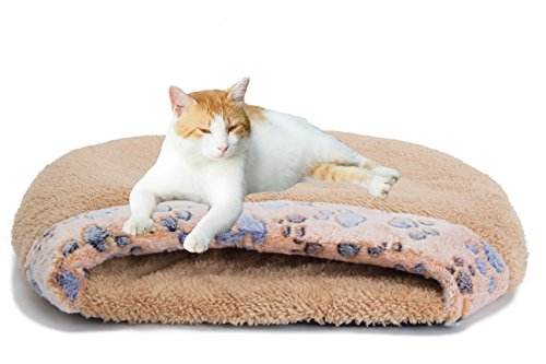 MiLuck Pet Cat Bed Cat Sleeping Bag Soft Warm Windproof Waterproof Pet Bed House for Dog Cat Kitten Indoor Outdoor(S-Brown)