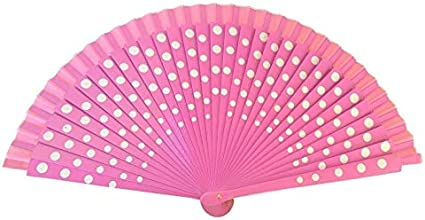 Red with Black Spots New Spanish Flamenco Wooden Fan