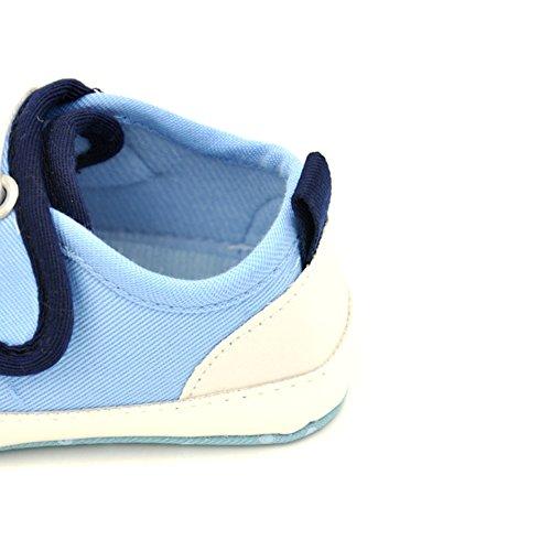 Leap Frog Sports Sneakers - Zapatos primeros pasos de Lona para niña Azul