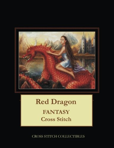 Red Dragon: Fantasy Cross Stitch Pattern