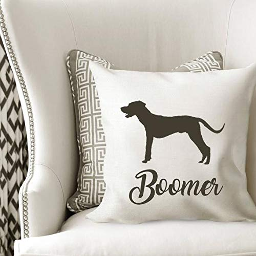 Wini2342ckey Catahoula Leopard Dog Silhouette Pillow Cover,Personalized Name Decorative Throw Cushion Pillow Case