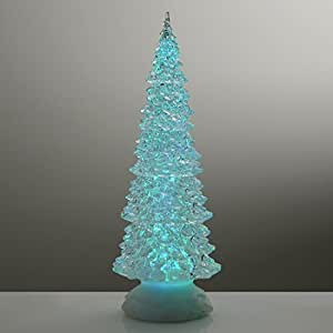 FunkyBuys® Branded 32cm Xmas Tree Colour Changing LED Light Glitter Water Christmas Decoration by FunkyBuys