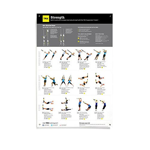 TRX Training All Body Strength Poster, Helps to Build Body S