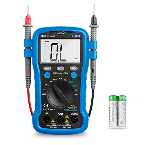 Multimeter - BTMETER BT-39K Auto Range Digital Universal Meter 4000 Counts With New Substitutable Fixed Mode, NCV, Diode,DC & AC Voltage, DC & AC Current, Resistance, Capacitance, Frequency ()