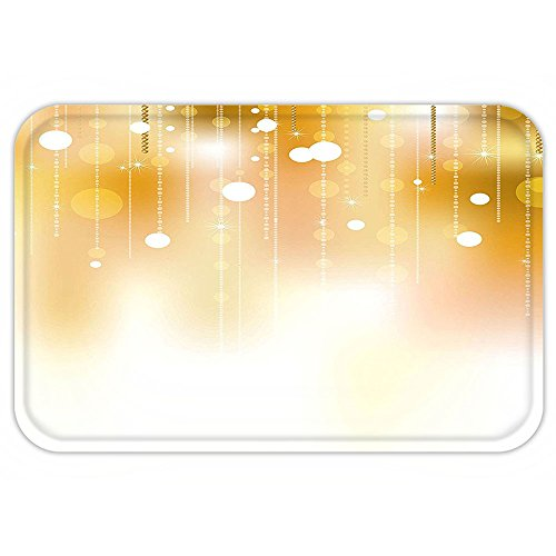 Kisscase Custom Door MatPearlDecoration Golden Color CircleHanging with Blurred Background Graphic Digital Art Golden Yellow White