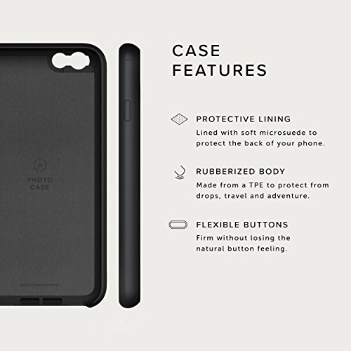 iPhone 6 Case with Fisheye Lens Kit || Moment Black Canvas Photo Case plus Superfish Lens || Best iphone fisheye attachment lens with thin protective case. by Moment (Image #5)