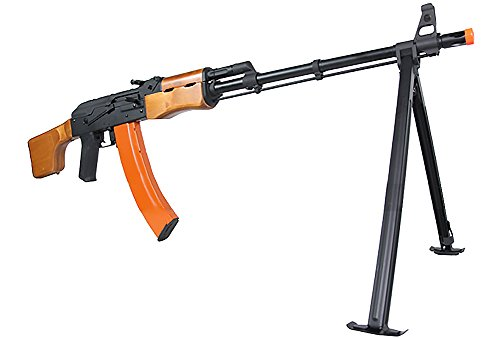 Evike CYMA CM052 Full Metal AK47 RPK LMG Airsoft AEG w/ Bipod - Real Wood - (35938)
