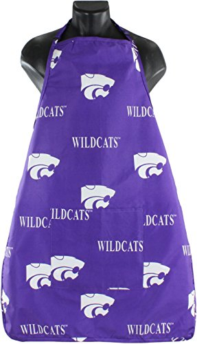 """College Covers Kansas State Wildcats Tailgating or Grilling Apron with 9"""" Pocket, Fully Adjustable Neck, One Size, Team Colors"""