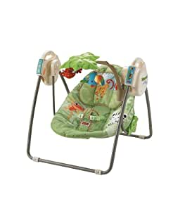 Fisher-Price Rainforest Open Top Take-Along Swing with Music and Mobile (Discontinued by Manufacturer)