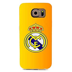 Official Real Madrid Phone Case 3D Plastic Pattern Anti-Scratch Hard Accessories for Samsung Galaxy S6 Edge with Real Madrid Logo