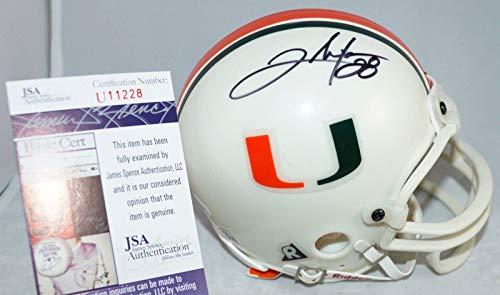 CLINTON PORTIS Signed MIAMI HURRICANES Mini Helmet + COA U11228 College Auto - JSA Certified - Autographed College Mini Helmets