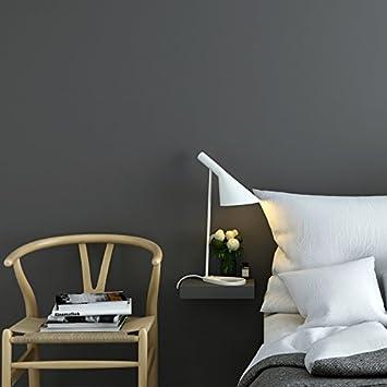 YUELA Reine Farbe Selbstklebende Wandaufkleber, Umweltschutz Vliesstoff,  Schlafzimmer Zitrone Gelb Farbe Wohnzimmer Hintergrund Wand