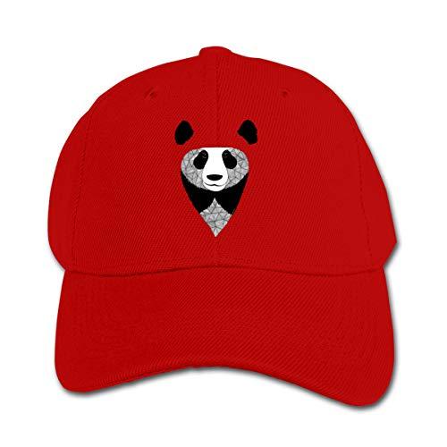 Wufive Panda Cute Kids Unisex Hats One Size Red