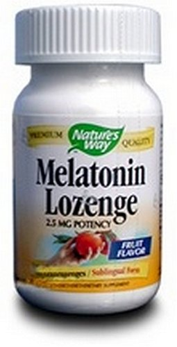 Amazon.com: Natures Way Melatonin Lozenge Fruit - 2.5 mg - 100 Lozenges pack of -2: Health & Personal Care