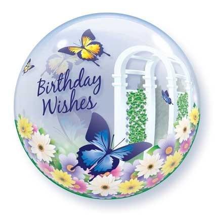 22 Birthday Wishes Butterflies Bubble Balloon Qualatex