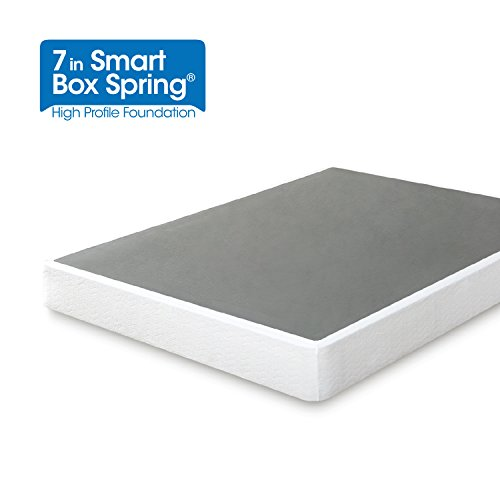 Twin Mattress Foundation - Zinus 7 Inch Smart Box Spring / Mattress Foundation / Strong Steel structure / Easy assembly required, Twin
