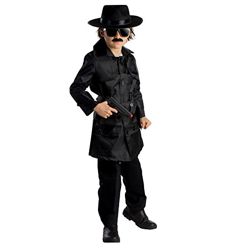 [Spy Agent Costume - Size Small 4-6] (Secret Agent Halloween Costume For Kids)