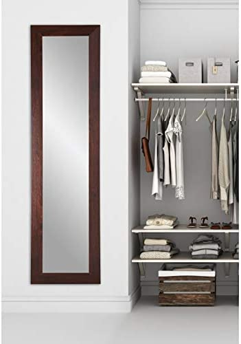 BrandtWorks BM6THIN Walnut Full Length Mirror, 21.5 x 71, Brown
