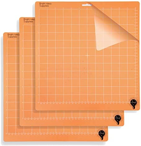 Replacement Cut Mats for Crafts Light Grip FANFX 3 pcs Variety Grip Cutting Mats 12x12 for Silhouette Cameo Explore Air//Air 2 //One Multi Color