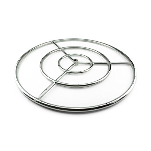 Fire Ring Burner for Fire Pits and Fireplaces | 30 Inch, Stainless Steel -