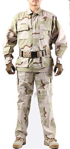 XinAndy Army DCU Tri-Color Desert Camo Uniform Coat Pant Set Military Combat Jacket Shirt & Pants Tactics Suit