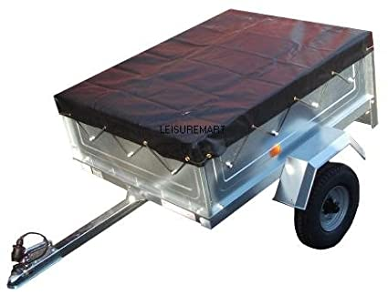 5' x 4' Black PVC High quality Heavy duty 5ft x 4ft trailer cover Pt No. LMX1136. Please ensure the cover is the correct size before ordering. Leisure Mart