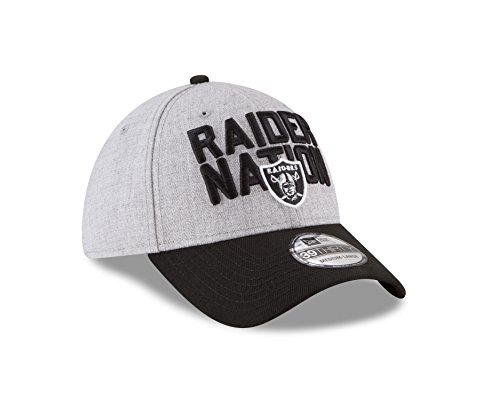Raiders Cap Draft (Oakland Raiders 2018 OnStage Draft 39THIRTY Hat, Medium/Large)