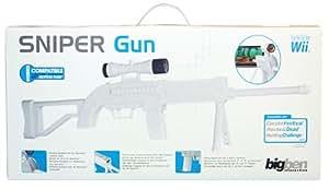 Bigben Wii Sniper Gun Black Edition - cajas de video juegos y accesorios (Negro, 60 mm, 544 mm, 248 mm, 1085 g)