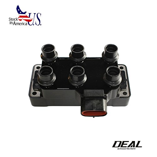 DEAL 1pc New Ignition Coil For Ford Mazda FD480 DGE446 2.5L 3.0L 3.5L 4.0L 4.2L V6 Aerostar E-150 E-250 Econoline Explorer F-150 Mustang Mystique Ranger Taurus (Mazda 626 Ignition Coil)