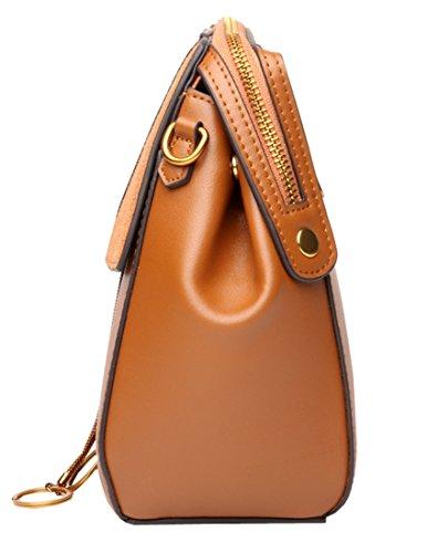 Purse Bag Bags Designer Heshe Shoulder Body Womens Brown Cross Leather Ladies Handbags vHHI01