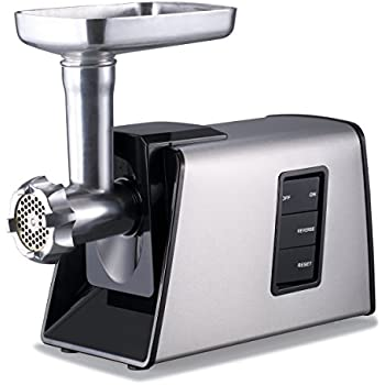Sunmile SM-G73 Electric Meat Grinder and Sausage Stuffer ETL - 1000W Max Size #8 - Stainless Steel Cutting Blade, 3 Stainless Steel Cutting Plates 3 Sausage Stuff Makers