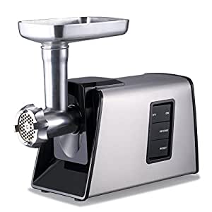 Sunmile SM-G73 ETL Electric Meat Grinder and Sausage Stuffer Maker 1000W Max, Stainless Steel Cutting Blade, 3 Stainless Steel Cutting Plates, 3 Sausage Stuff