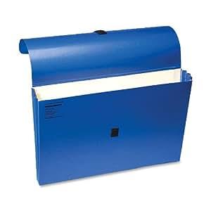 Wilson Jones Expanding Wallets, 10 x 15 Inches, Dark Blue, ColorLife, 10 Per Box (WCC722-4BL)