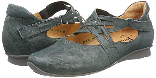 Chilli agave Blue 65 Ankle Women''s kombi 282108 Think Strap Ballet Flats 5H7OBwq8