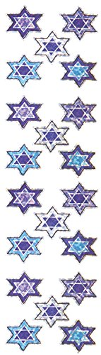 Jillson Roberts Prismatic Stickers, Micro Stars of David, Multicolor, Bulk Continuous Roll (BS7530) (Stickers Roll Honor)