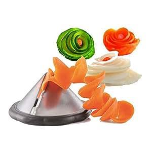 Creative Gadgets Vegetable Spiralizer Slicer Cutter Accessories Cooking Tools Best Veggie Pasta for Kitchen Home Green