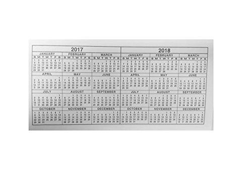 Pack of 2 - 2 Year Pocket Calendar, 2017-2018, Fits Standard Sized ...