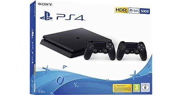 Playstation 4 (PS4) - Consola 500 Gb + 2 Mandos Dual Shock 4 (Edición Exclusiva Amazon): Amazon.es: Videojuegos