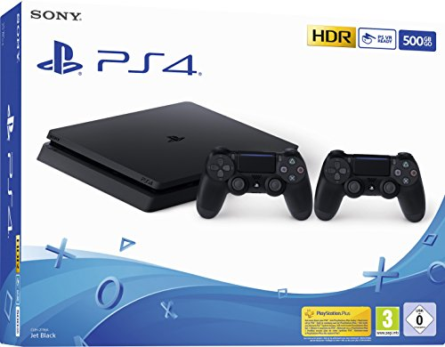Playstation 4 (PS4) – Consola 500 Gb + 2 Mandos Dual Shock 4 (Edición Exclusiva Amazon)