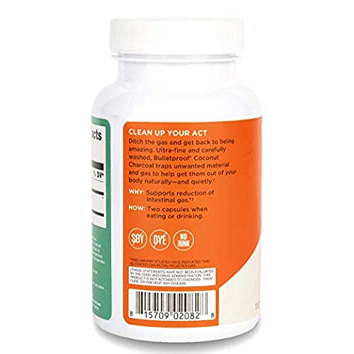 Bulletproof Coconut Charcoal, Supports Better Digestion and Gas Relief (90 Capsules) (2-Pack) by Bulletproof (Image #2)