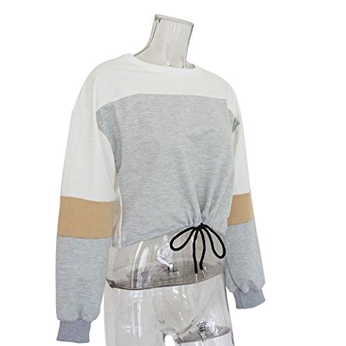 Jogging Gris Tops Capuche Capuche Multicolore vtements Pull Nankod Streetwear Suga Patchwork Club Automne Sweat Femmes d'hiver AwgvZq