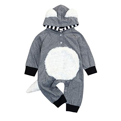Newborn Baby Girl Boy Christmas Thanksgiving Infant Toddler Cosplay Clothes Costumes Cartoon Fox Coat Romper Hooded Overall -